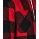 Giacca reversibile con fantasia a quadri rosso