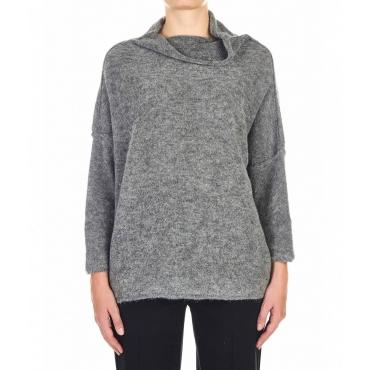 Maglione oversize grigio chiaro