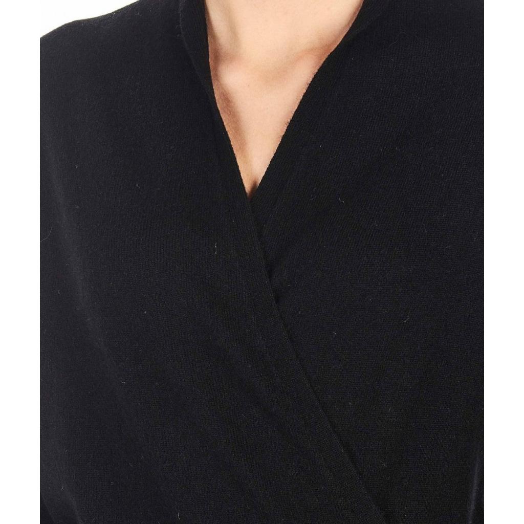 Maglia in cashmere con scollatura V nero