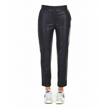 Pantaloni in ecopelle nero