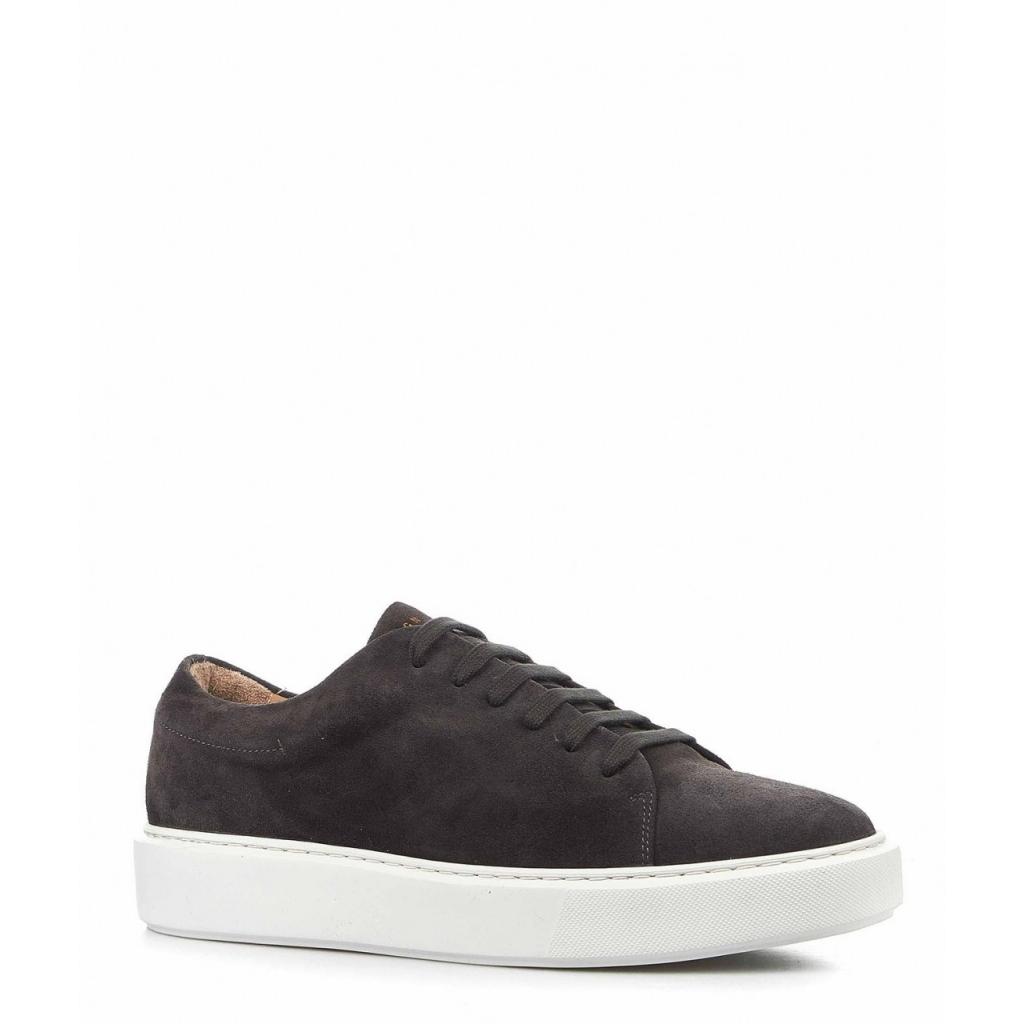 Sneaker in pelle camosciata grigio scuro