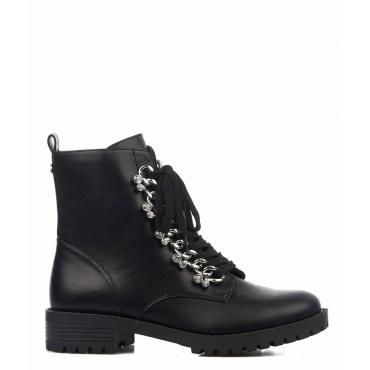 Stivali con applicazione strass nero