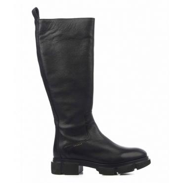 Stivali di pelle nero