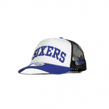 CAPPELLINO VISIERA CURVA NBA TEAM TRUCKER COLOUR BLOCK A-FRAME PHI76E ORIGINAL TEAM COLORS
