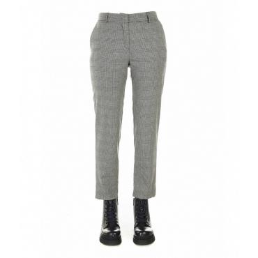 Pantaloni con motivo Glencheck nero