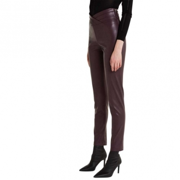 Leggings in pelle sintetica stretch M391