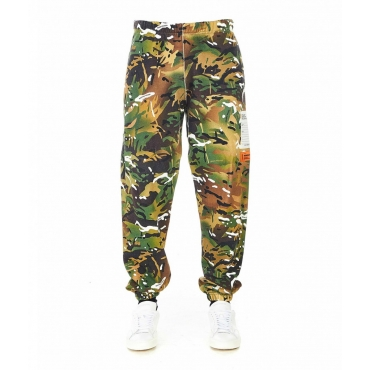 Sweatpants in stampa mimetica verde