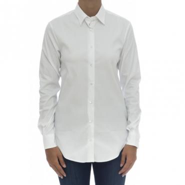 Camicia donna - Marta 15125 camicia pop strech albini 001 - bianco