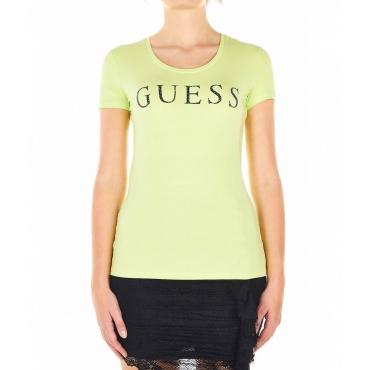 Maglietta con scritta logo verde