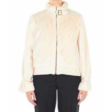 Jacke aus Eco-Pelz Panna