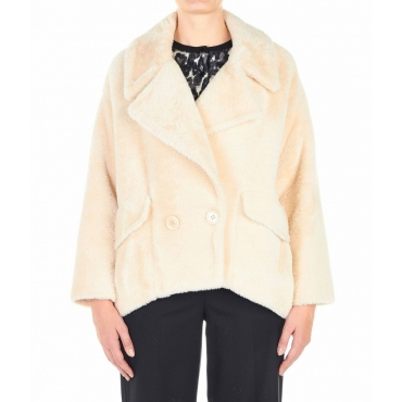Jacke aus Eco-Pelz Rosa