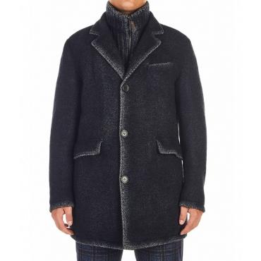 Cappotto in misto lana nero