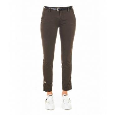 Pantaloni Chino Chic marrone scuro