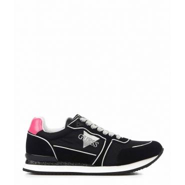 Sneaker con glitter nero