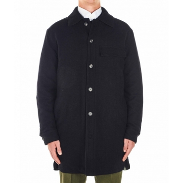 Cappotto di lana nero