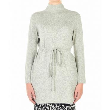 Maglione lungo a maglia Adrenalina grigio chiaro