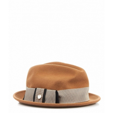 Cappello feltro beige