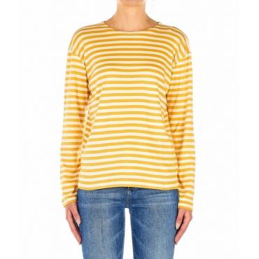 Maglietta a righe giallo