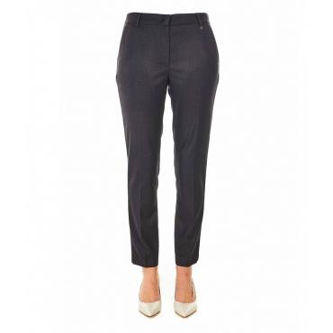 Pantaloni eleganti con dettagli di strass nero
