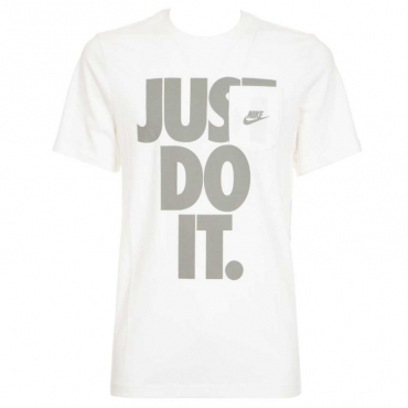 T-Shirt bianca con taschino e stampa 100WHITE