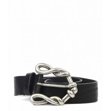 Cintura in pelle Alexa nero