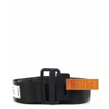 Logo-tape cintura nero