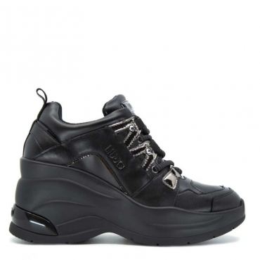 Sneakers Karlie Revolution nera con plateau alto 22222BLACK