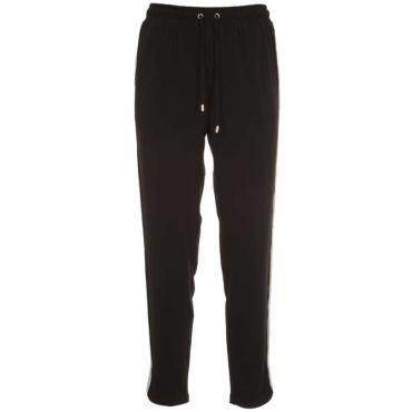 Pantalone sportivo con bande glitter 22222NERO