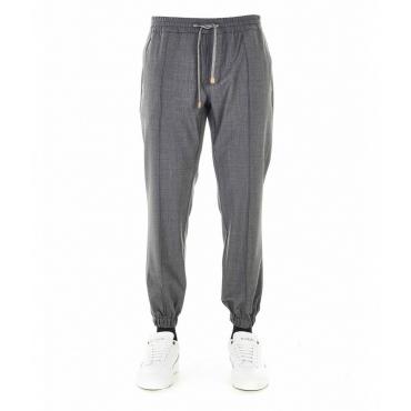 Pantaloni con orlo elastico grigio