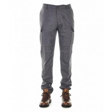 Shorts gessati grigio
