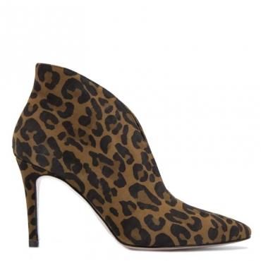 Stivaletti leopardati in cuoio S1817PARDUS