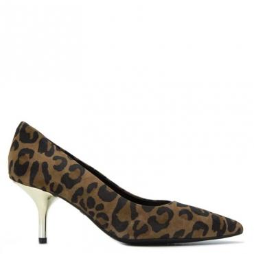 Decollet Hanna in cuoio leopardato S1817PARDUS