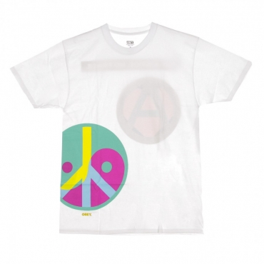 MAGLIETTA LOVE PEACE ANARCHY WHITE