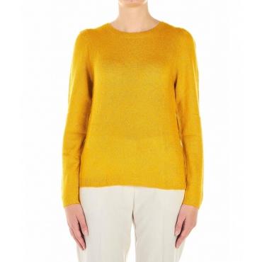 Maglione con finitura glitter giallo