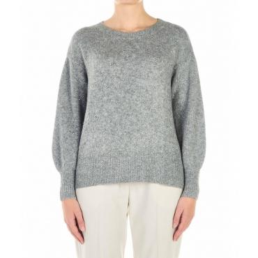 Maglione con finitura glitter grigio chiaro