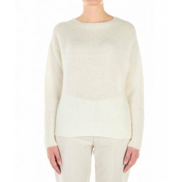 Pullover leggero a maglia crema