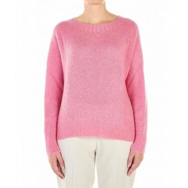 Pullover leggero a maglia pink