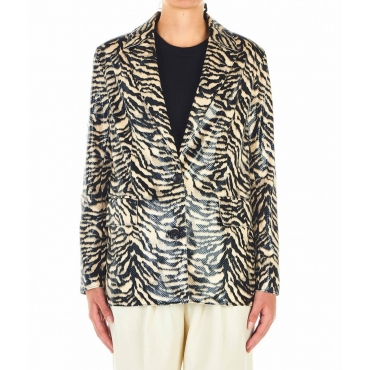 Blazer in stampa animale Catherine beige
