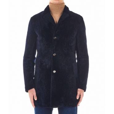 Cappotto di montone blu scuro