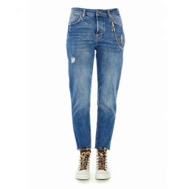 High waist Jean blu
