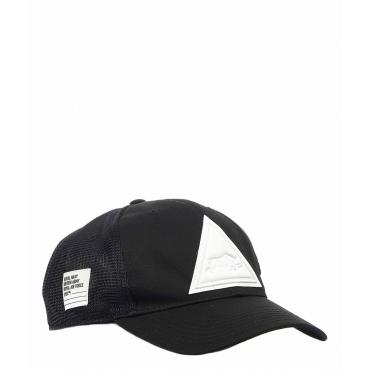 Cappellino da baseball con logo patch nero
