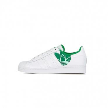 SCARPA BASSA SUPERSTAR WHITE/WHITE/GREEN