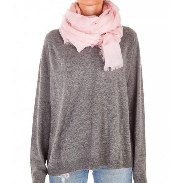 Sciarpa leggera rosa chiaro