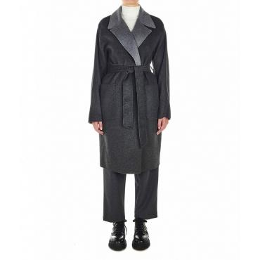 Cappotto in lana grigio scuro