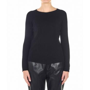 Pullover leggero a maglia nero
