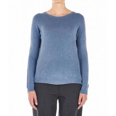 Pullover leggero a maglia azzurro