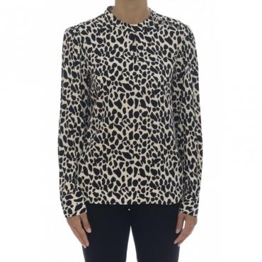 Camicia donna - Taype camicia maculata NERO
