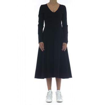 Vestito - J7006 vestito punto milano 003 - Nero