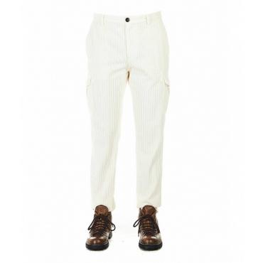 Pantaloni di velluto a coste bianco