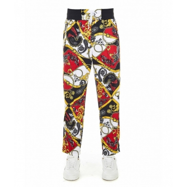 Joggers in stampa allover multicolore